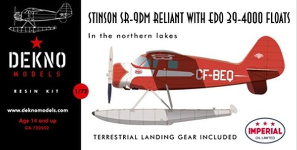 Stinson SR-9DM Reliant with Edo 39-4000 floats
