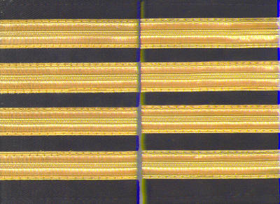 Set of two 4 gold bar Epaulettes with black background. ( 13 mm bar)  4BARGOLD