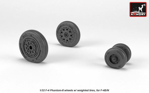 F4B/N Phantom early wheels with weighted tires  AR AW72328