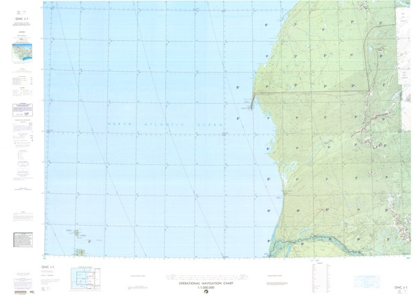 ONC J-1: Available: Operational Navigation Chart for Morocco, Mauritania, Senegal.  Available ! additional charts available within five working days. E-mail your requirements.  ONC J-1