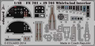 Detailset Westland Whirlwind Interior Self Adhesive (Trumpeter)  FE701