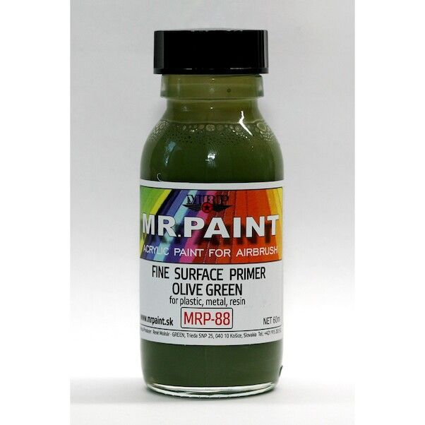MR. Paint Fine surface Primer for Plastic, Metal, Wood and Resin - Olive green  mrp-88