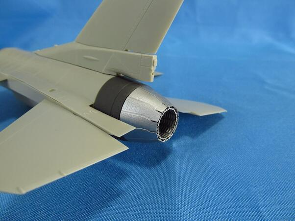 F16 jet nozzle for PW F110 engine - closed-  (Tamiya)  MDR4863