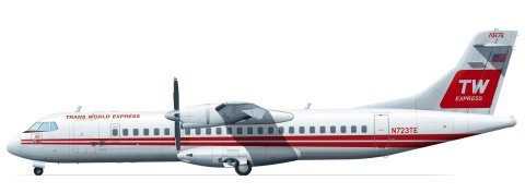 ATR72 (Trans World Express)  FRP4031