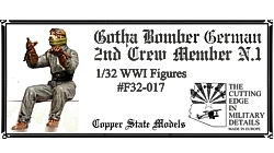 WW1 German Gotha Bomber 2nd Crew Member 1  F32-017
