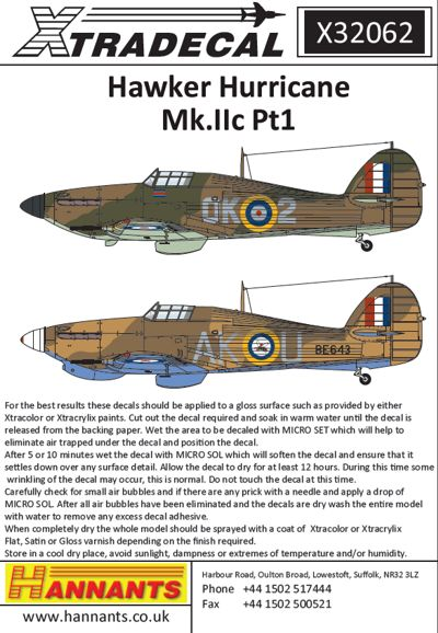 Hawker Hurricane MKIIc part 1  x32062