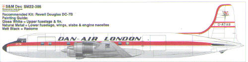 Douglas DC7B (Dan Air London)  sm22-286