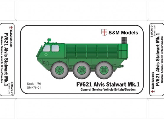 FV621 Alvis Stalwart MK1 General Service Vehicle GB/Sweden)  SMK76-01