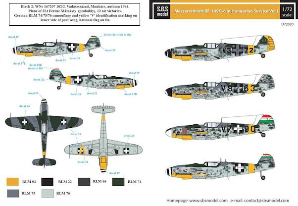 Messerschmitt Bf109G-6 Hungarian Air Force Vol 1  SBSD72020