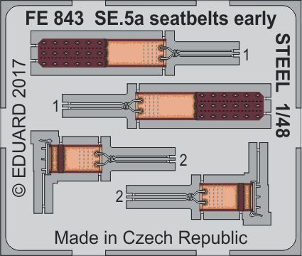 Detailset Se5A Seatbelts early -Steel- (Eduard)  FE843