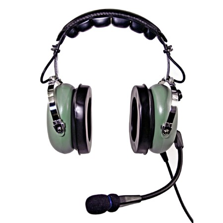 NicePower AN-1000A Passive noise cancelling General Aviation Headset (green)  AN-1000A-GR