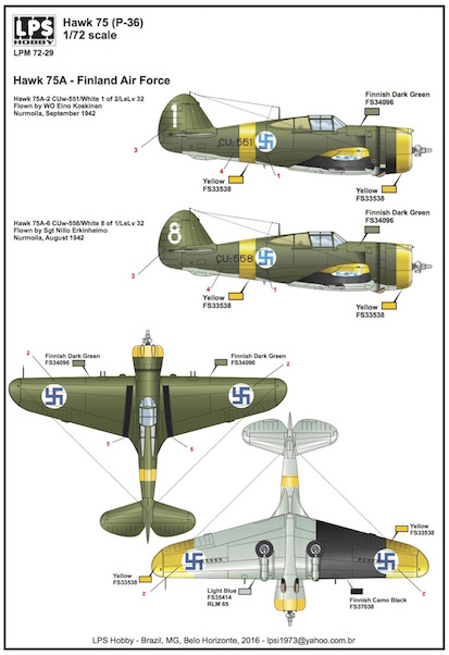 Curtiss Hawk 75A-2/6 (Finnish AF)  LPM72-29