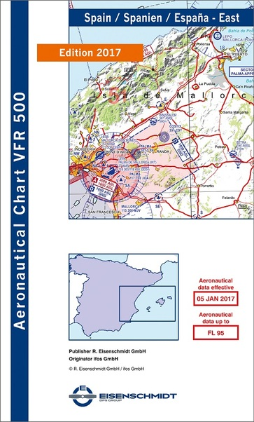 VFR 500 Spain chart East (Edition 2017/18)  05-4-022-2017