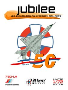 Jubilee, MiG21''s golden Anniversary Tail Arts  780LH