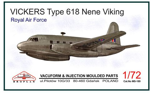 Vickers Type 618 Nene Viking (RAF)  MS-189