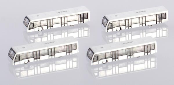 Herpa Wings 1:500 533706  Airport Bus Set 4-in-1 set