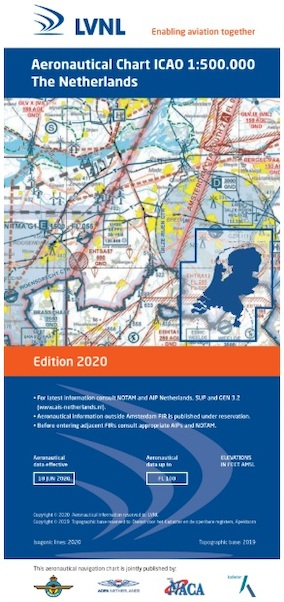 Low Countries Netherlands ICAO Edition 2020 Laminated  NL-LAM 2020