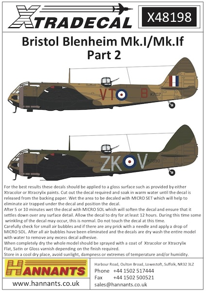 Bristol Blenheim MK1/MK1F Part 2  X48198