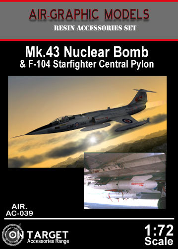 Mk43 Nuclear bomb and F104 Starfighter central Pylon  AIR.AC-039