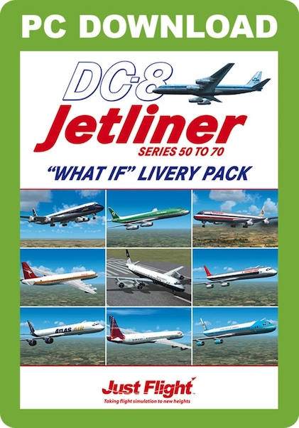 DC-8 50-70 What if Livery Pack (download version FSX) (Just Flight  J3F000156-D)
