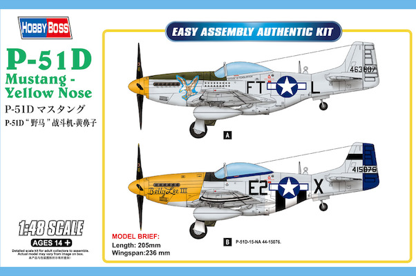 P51D Mustang - Yellow Nose  85808