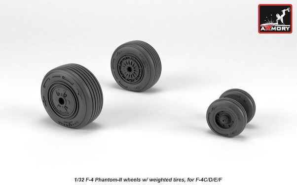 F4C/D/E/F Phantom Mid Type wheels with weighted tires  AR AW48324