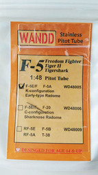 F5E Original Nose (K config.) Pitot Tube (AFV Club)  WANDD48005