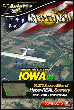Mega Scenery Earth Version 3, Iowa V3 (Download version)  DL-MSEV3-IA