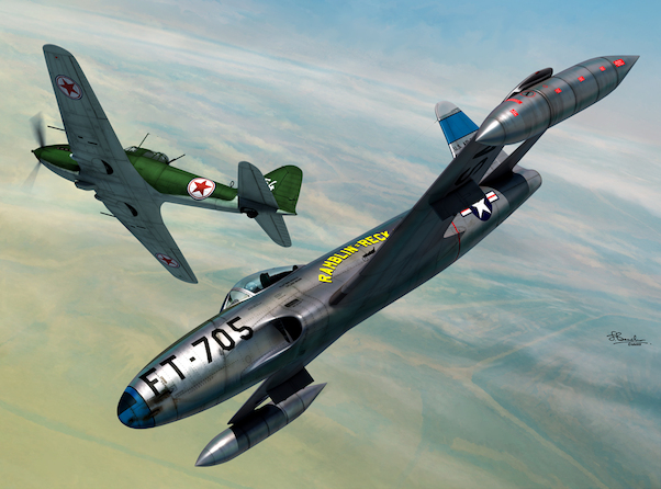 Lockheed P80C Shooting Star vs Ilyushin IL10 over Korea -  2 in 1 series  SW72128