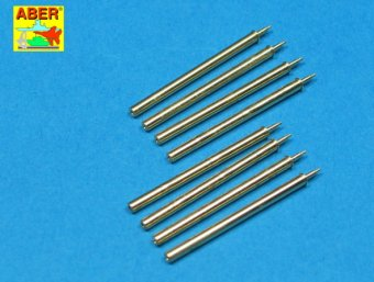 Set of 8 turned US cal .50 (12,7mm) barrels for P47 Thunderbolt  A32-109
