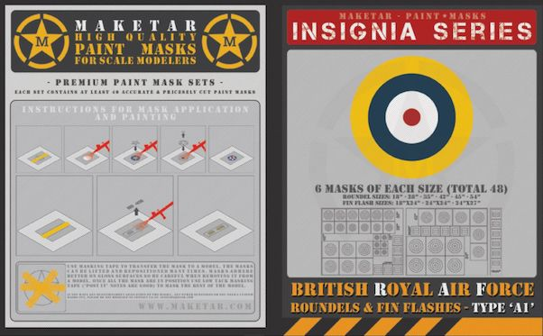 Royal Air Force Roundels Type A1 and Fin Flashes (48 roundels)  MM48009