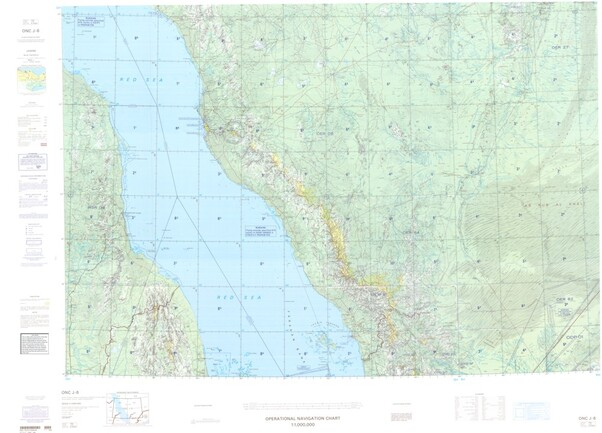 ONC J-6: Available: Operational Navigation Chart for Saudi Arabia, Yemen, Sudan, Eritrea. Available ! additional charts available within five working days. E-mail your requirements.  ONC J-6