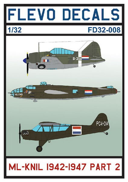 Royal Netherlands ML-KNIL 1942-1947 Part 2 (Buffalo, B25C/D Mitchell, L4 Cub)  FD32-008