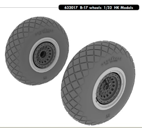 Boeing B17 Wheels (HK Models)  e632-017
