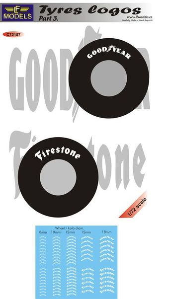 Tyre Logos part 3: 10 options of Good Year and Firestone Tyre logos  c72187