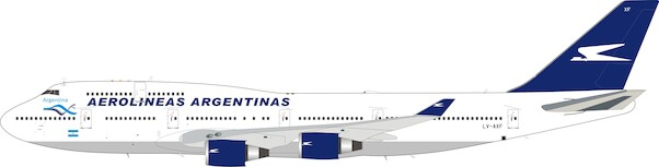 Boeing 747-400 Aerolineas Argentinas LV-AXF with stand  IF744AR0920