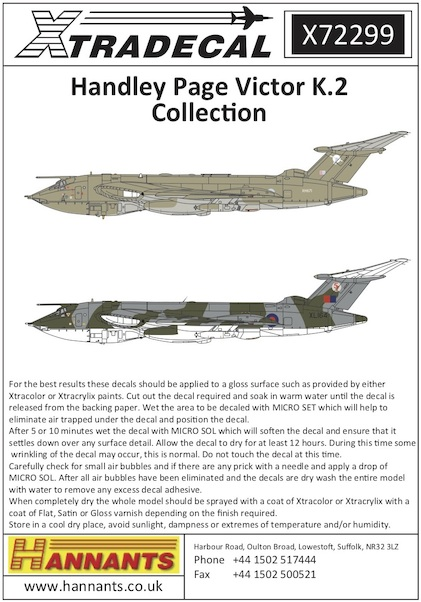 Handley Page Victor Collection (17)  X72299