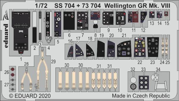 Detailset Wellington GR MKVIII (SPECIAL OFFER - WAS EURO 17,95)  E73-704
