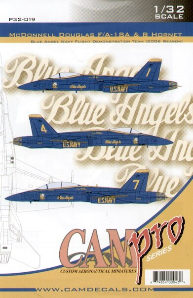McDonnell Douglas F/A18A/B Hornet (Blue Angels 2006 Season)  CAMP32-019