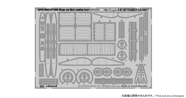 A1H Skyraider Wing and landing gear detail set  sws-03-M06