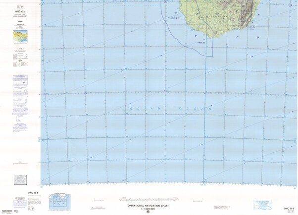 ONC Q-6: Available: Operational Navigation Chart for South Madagascar.  Available ! additional charts available within five working days. E-mail your requirements.  ONC Q-6