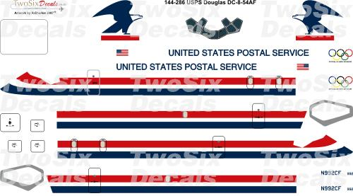Douglas DC8-50F (US Postal Service USPS) (Two Six decals 144-286)