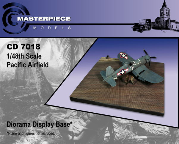 Pacific Airfield diorama display base with Marsden plates (Master Piece  Models CD7018)