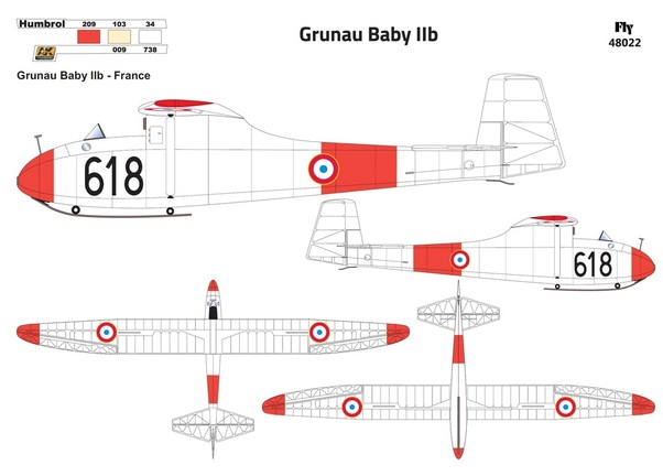 Grunau Baby IIb German Single seat Sailplane (French AF 1)  48022