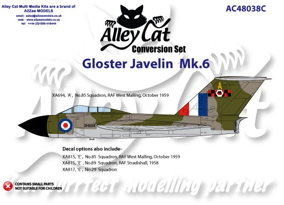 Gloster Javelin MK6 Conversion and decalset (Airfix)  AC48038C