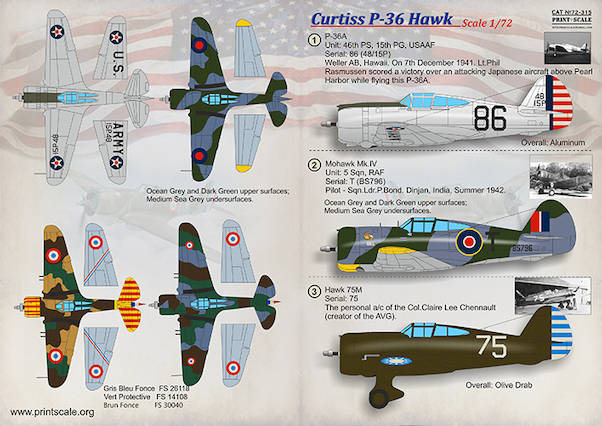 Curtiss P36/H75 Hawk  PRS72-315