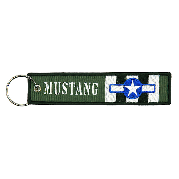 Keyholder with MUSTANG on both sides, green background  KEY-MUSTANG