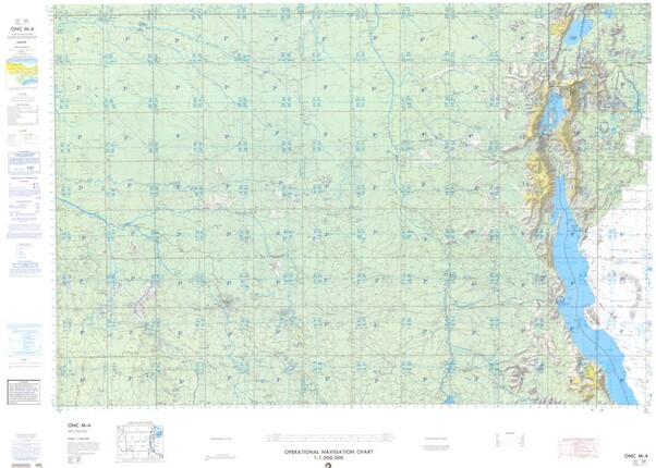 ONC M-4: Available: Operational Navigation Chart for Congo, Burundi, Rwanda, Tanzania, Uganda. Available ! additional charts available within five working days. E-mail your requirements.  ONC M-4