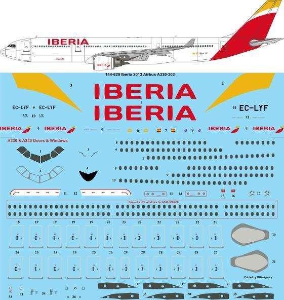 Airbus A330-300 (Iberia 2013 colours)  144-629