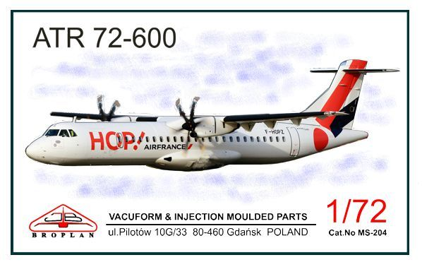 ATR72-600 (HOP! Airliners)  MS-204